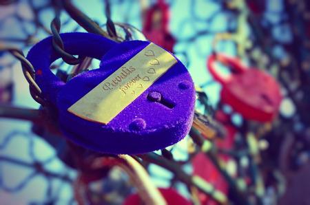 blue velvet: Blue velvet wedding locks. Valentine\ Stock Photo