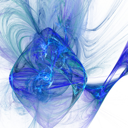 billowing: Spiral Nebula. Billowing smoke. Particles of paint in the water. Abstract. Fractal illustration. Space. Light background.
