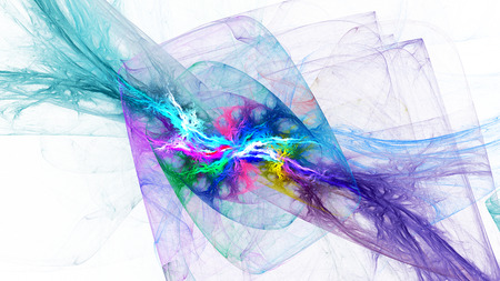 fractal background: Spiral Nebula. Billowing smoke. Particles of paint in the water. Space. Format 16: 9 for widescreen monitors. Fractal Wallpaper on your desktop. Stock Photo