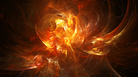 16 9: Spiral Nebula. Billowing smoke. Particles of paint in the water. Space. Format 16: 9 for widescreen monitors. Fractal Wallpaper on your desktop. Stock Photo