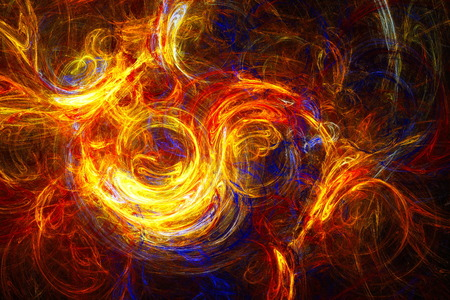 stormy sky: Clubs colored smoke. Stormy sky. Incredible snowstorm. Abstract image. Fractal Wallpaper on your desktop. Digital artwork for creative graphic design.