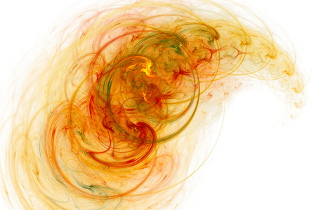 colored smoke: Colored smoke rings. Abstract image. Fractal Wallpaper on your desktop. Digital artwork for creative graphic design. Light background. Stock Photo
