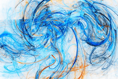 colored smoke: Clubs colored smoke. Chaos curves. Space wind. Abstract image. Fractal Wallpaper on your desktop. Digital artwork for creative graphic design. Light background.