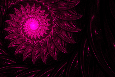 whirling: Exotic flower, whirling spiral into infinity. Abstract image. Fractal Wallpaper on your desktop. Digital artwork for creative graphic design. Stock Photo