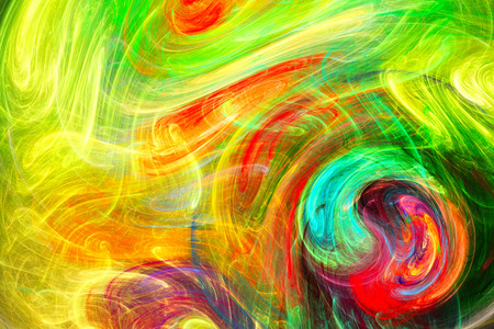 digital illustration: Dabs of paint. Swirling clouds. Stormy sky. The rapid vortex. Abstract image. Fractal Wallpaper on your desktop. Digital artwork for creative graphic design.