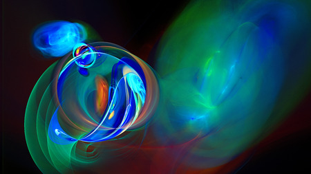 colored smoke: Rings of colored smoke. Bright air bubbles under water