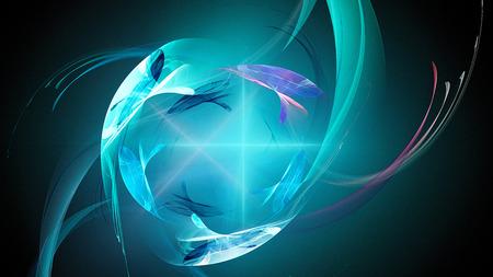 lucero: La supernova explosión. Brillante estrella de la nebulosa. galaxia distante. Resumen de imágenes. Papel pintado del fractal en el escritorio. obra de arte digital para el diseño gráfico creativo. Formato de 16: 9 monitores de pantalla ancha