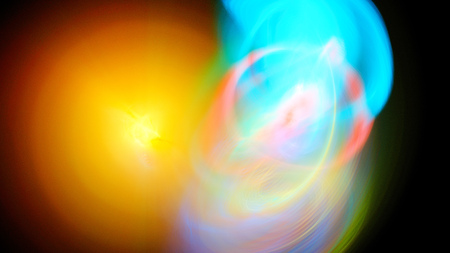 supernova: The explosion supernova. Bright Star Nebula. Distant galaxy. Abstract image. Fractal Wallpaper on your desktop. Digital artwork for creative graphic design. Format 16: 9 widescreen monitors