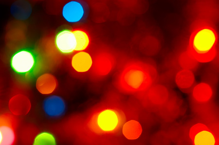 blured: Christmas fairy-tale background with bright blured artistic bokeh. Stock Photo