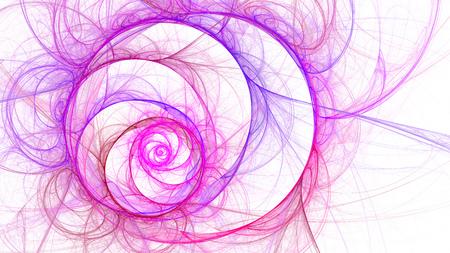 16 9: Exotic flower. Space spiral of time. Abstract image. Fractal Wallpaper desktop. Digital artwork creative graphic design. Format 16: 9 widescreen monitors.