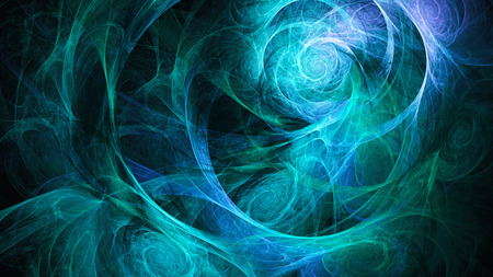 Spiral space. Storm sky. Atmosphere distant planet. Abstract image. Fractal Wallpaper desktop. Digital artwork creative graphic design. Format 16: 9 widescreen monitors. Stock Photo