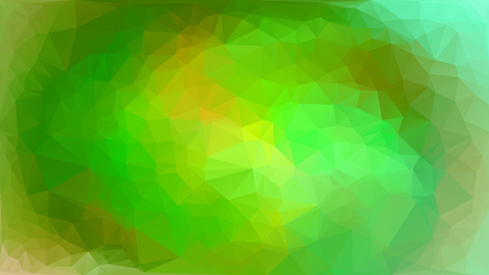 endlessly: Green white polygonal mosaic background, vector abstract illustration, creative business design templates. Low Poly. Endlessly repeating shapes. Stock Photo