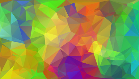 endlessly: Multicolored polygonal mosaic background, vector abstract illustration, creative business design templates. Low Poly. Endlessly repeating shapes.