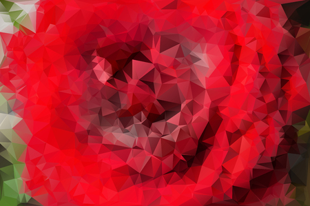 endlessly: Bright red polygonal rose. Mosaic background, vector abstract illustration, creative business design templates. Low Poly. Endlessly repeating shapes.