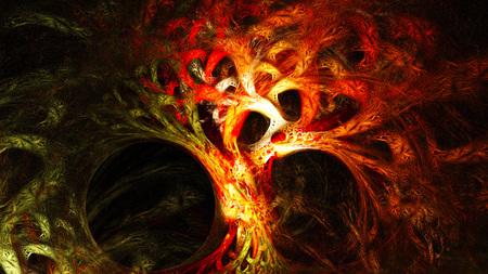 抽象的なイメージ。神秘的なサイケデリックなツリー。神聖な幾何学。 写真素材 - 53407112
