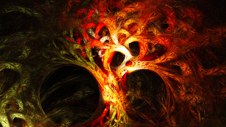 Abstract image. Mysterious psychedelic tree. Sacred geometry.