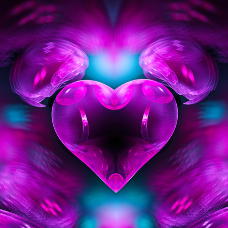 mysterious: Mysterious psychedelic relaxation heart. Stock Photo