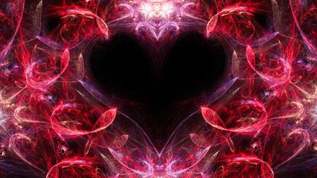 抽象的なイメージ。神秘的なサイケデリックなリラクゼーション心。神聖な幾何学。バレンタイン。フラクタル壁紙パターン。デジタル アート創造 写真素材