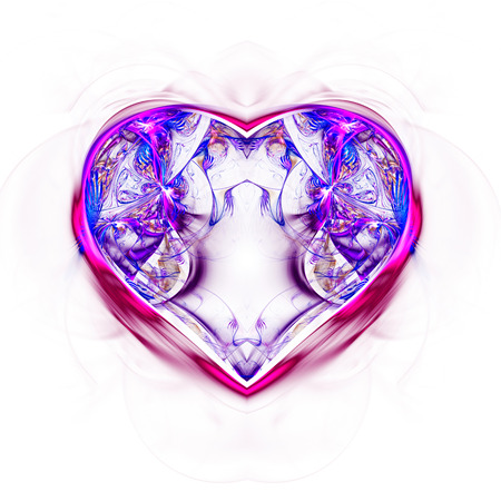 mysterious: Mysterious psychedelic relaxation heart Stock Photo