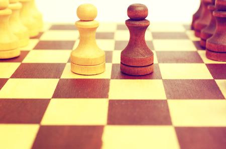 confrontation: Light and dark. Confrontation.
