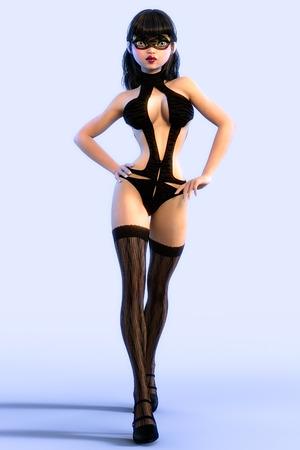 nude girl: Sexy glamorous girl.