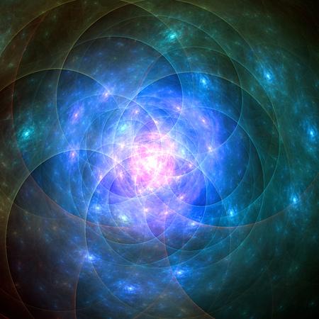 galaxies: Birth of galaxies. Stock Photo