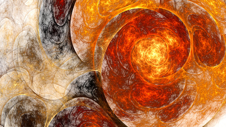 microscope: Abstract fractal pattern. Stock Photo