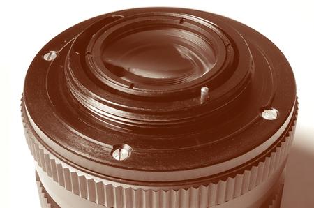 dslr: Old film DSLR lens.