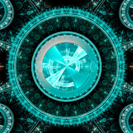 galactic: Mechanism and gear galactic hours Stock Photo