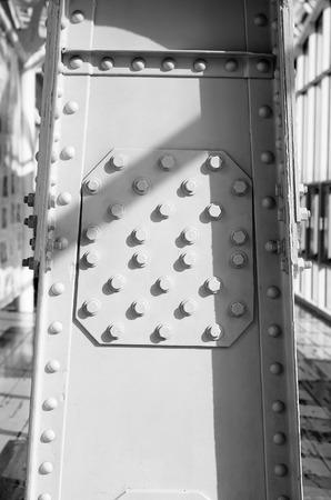 pedestrian bridge: Metal poles pedestrian bridge.