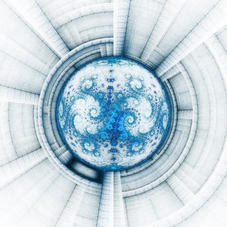 time machine: Cosmic eye. Time Machine. Stock Photo