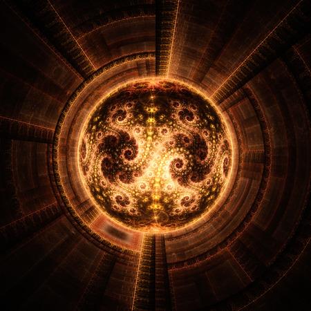 microcosm: Cosmic eye. Time Machine. Stock Photo