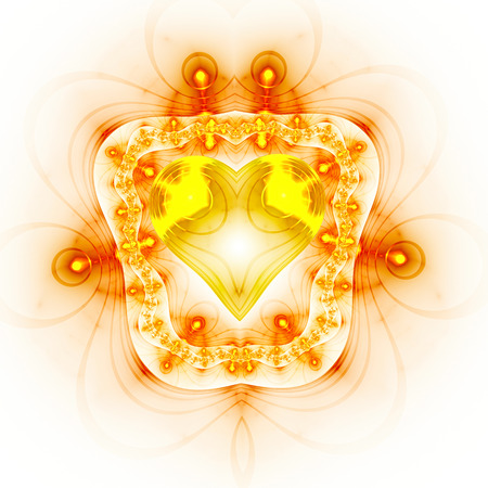 microcosm: Abstract heart in frame. Stock Photo