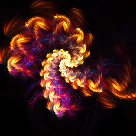 spiraling: Colored smoke spiraling.