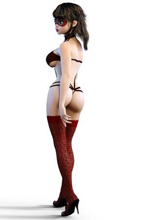 nude black woman: Sexy glamorous girl.