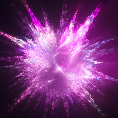 Explosion paint drops. Shining supernova.