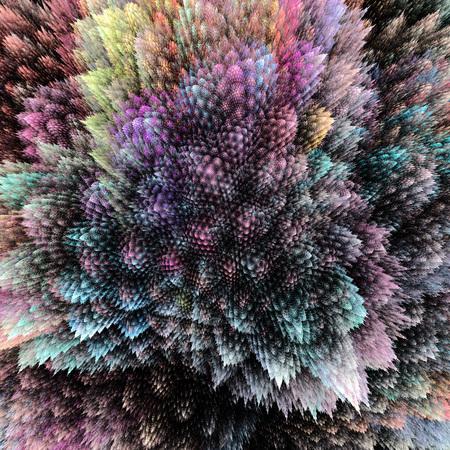 grown up: Bush grown crystals. Corals close up view.