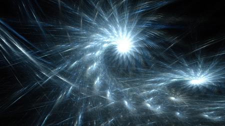 Rotating fireworks sparks. Radiance starry sky.