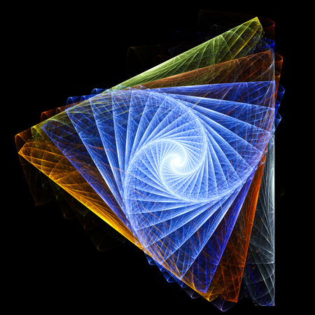 Endless color triangles and spirals. Stock Photo