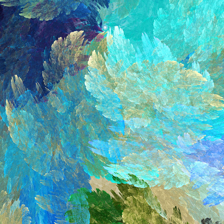 microcosm: Abstract painting watercolor. Strokes of paint. Stock Photo