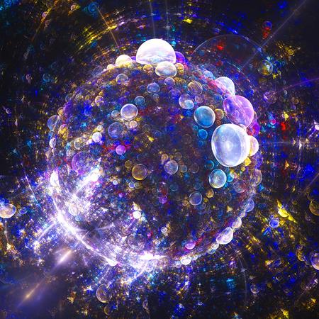 wonderful: Spherical planet of bubbles. Wonderful world.