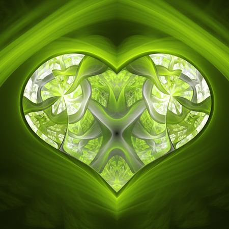 Enchanted magic diamond heart. Stock Photo
