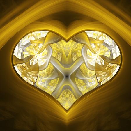 coeur diamant: Enchanted magic diamond heart. Banque d'images