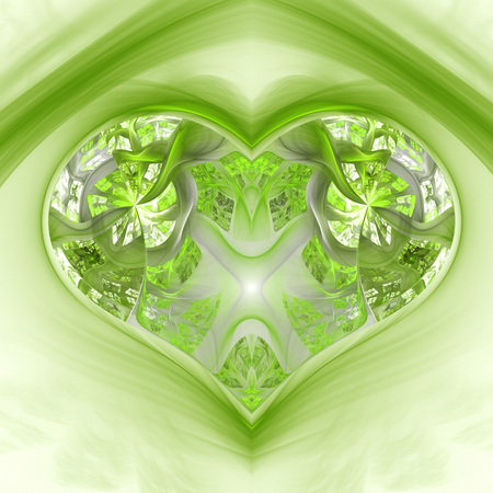 coeur diamant: Enchanted magic diamond heart. Banque d'images