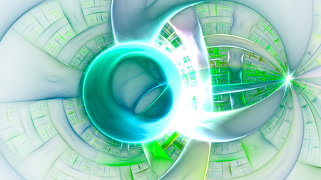 Spherical plasma. Powerful protective field. Stock Photo
