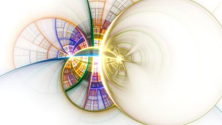 3 D のシュールなイラスト。神聖な幾何学。神秘的なサイケデリックなリラクゼーション パターン。フラクタルの抽象的なテクスチャです。デジタル 写真素材