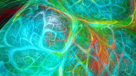 Kaleidoscope colorful sparks. Interweaving branches chaos.