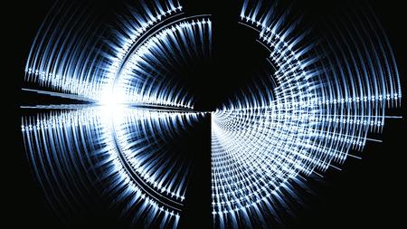 sonar: Radio Sound onda. Radiazione. radar schermo. Sonar. illustrazione surreale 3D. La geometria sacra. Misteriosa modello di rilassamento psichedelico. Frattale texture astratta. opere d'arte digitale magia grafica astrologia Archivio Fotografico
