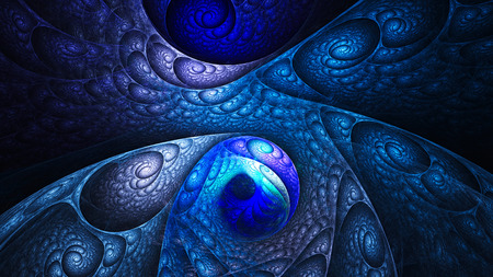 microcosm: Tail snake. Scales. Curls. 3D surreal illustration. Sacred geometry. Mysterious psychedelic relaxation pattern. Fractal abstract texture. Digital artwork graphic astrology magic Stock Photo