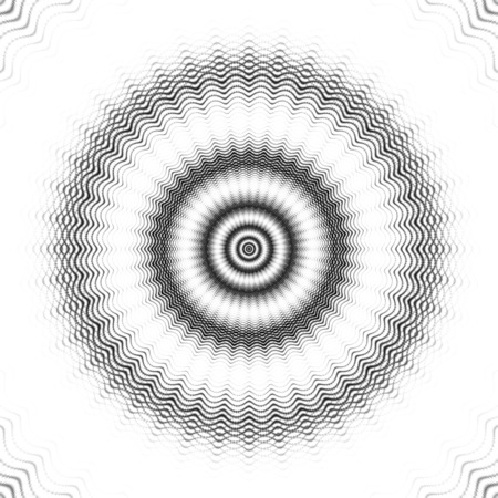 Wavy circles. Echo. Funnel. Sonar. 3D surreal illustration. Sacred geometry. Mysterious psychedelic relaxation pattern. Fractal abstract texture. Digital artwork graphic astrology magic